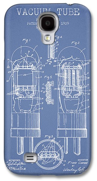 Electron Galaxy S4 Cases - Vacuum Tube Patent From 1929 - Light Blue Galaxy S4 Case by Aged Pixel