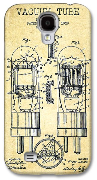 Electron Galaxy S4 Cases - Vacuum Tube Patent From 1929 - Vintage Galaxy S4 Case by Aged Pixel