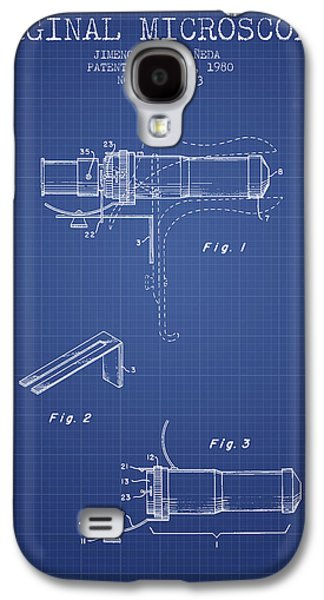 Microscope Galaxy S4 Cases - Vaginal Microscope patent from 1980 - Blueprint Galaxy S4 Case by Aged Pixel