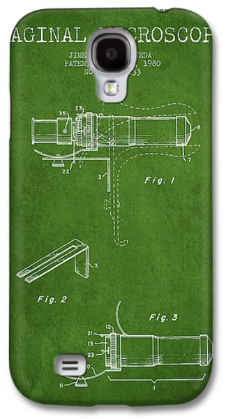 Microscope Galaxy S4 Cases - Vaginal Microscope patent from 1980 - Green Galaxy S4 Case by Aged Pixel