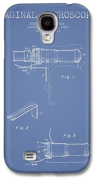 Microscope Galaxy S4 Cases - Vaginal Microscope patent from 1980 - Light Blue Galaxy S4 Case by Aged Pixel