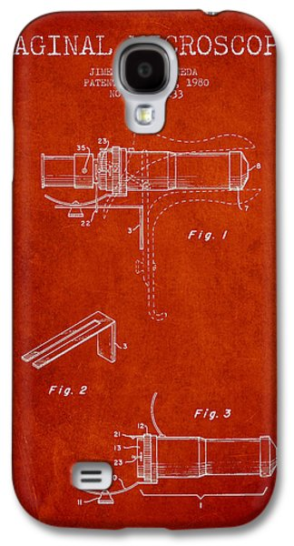 Microscope Galaxy S4 Cases - Vaginal Microscope patent from 1980 - Red Galaxy S4 Case by Aged Pixel