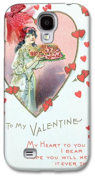 Saints Drawings Galaxy S4 Cases - Valentine Card Galaxy S4 Case by English School