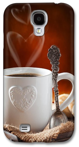 Cherub Galaxy S4 Cases - Valentines Day Coffee Galaxy S4 Case by Amanda And Christopher Elwell
