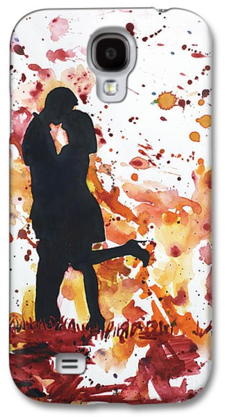 Unity Paintings Galaxy S4 Cases - Valentines Kiss Galaxy S4 Case by Ryan Fox