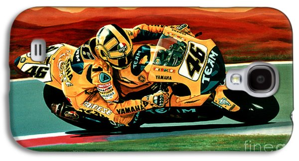 Circuit Galaxy S4 Cases - Valentino Rossi The Doctor Galaxy S4 Case by Paul  Meijering