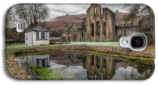 Fish Pond Galaxy S4 Cases - Valle Crucis Abbey Galaxy S4 Case by Adrian Evans