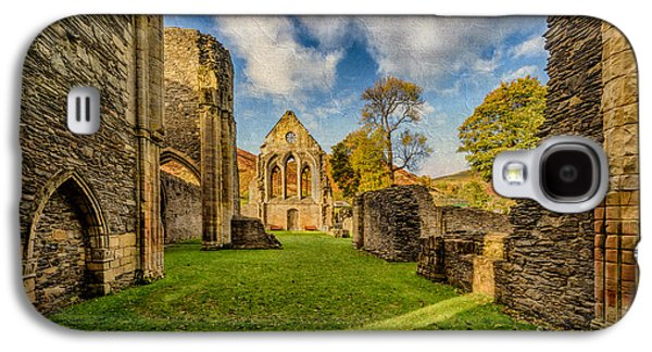 Fall Grass Galaxy S4 Cases - Valle Crucis Abbey Ruins Galaxy S4 Case by Adrian Evans