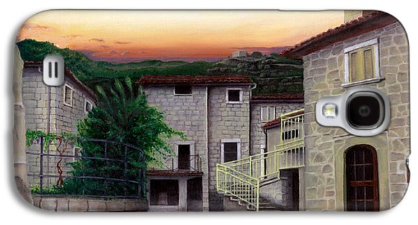 Tuscan Sunset Paintings Galaxy S4 Cases - Vallecchia de Monte Calvo Galaxy S4 Case by Albert Puskaric