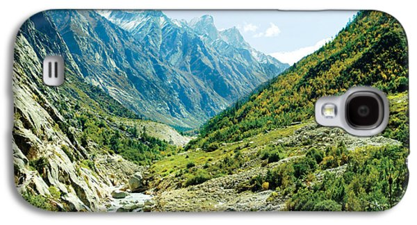 People Pyrography Galaxy S4 Cases - Valley of river Ganga in Himalyas mountain Galaxy S4 Case by Raimond Klavins