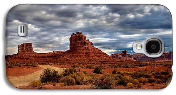 Scenic Drive Galaxy S4 Cases - Valley of the Gods Stormy Clouds Galaxy S4 Case by Robert Bales
