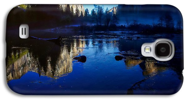 Cathedral Rock Galaxy S4 Cases - Valley View Yosemite National Park Reflection Galaxy S4 Case by Scott McGuire