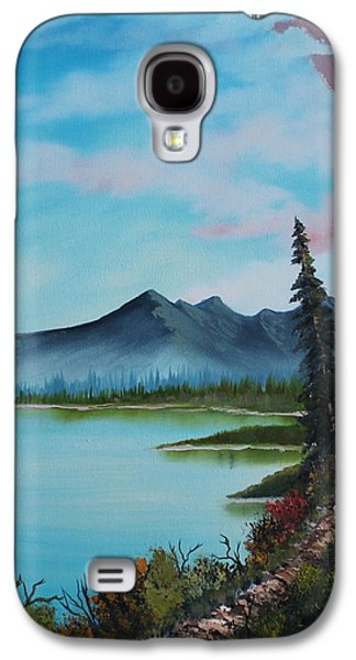 Bob Ross Paintings Galaxy S4 Cases - Valley Vignette Galaxy S4 Case by Bob Williams