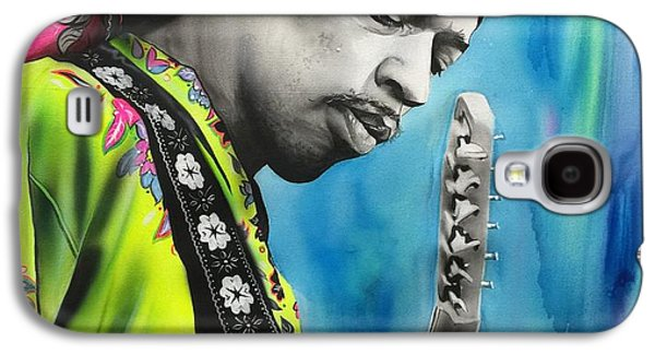 Jimi Hendrix Galaxy S4 Cases - Valleys of Saturn Galaxy S4 Case by Christian Chapman Art