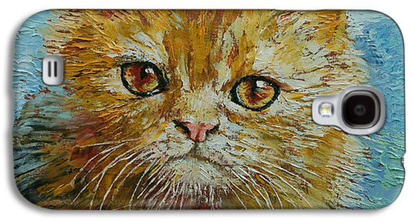 Orange Tabby Paintings Galaxy S4 Cases - Van Gogh Galaxy S4 Case by Michael Creese