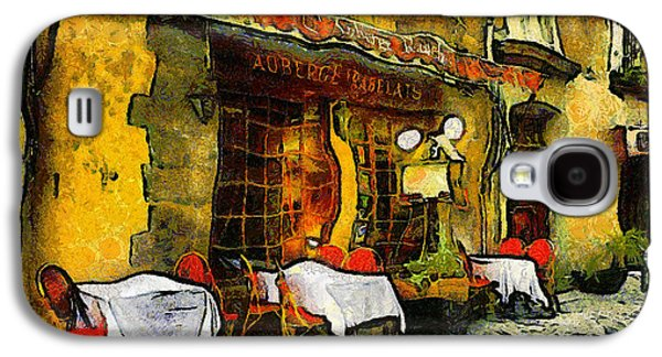 Snack Bar Galaxy S4 Cases - Van Gogh Style Restaurant Galaxy S4 Case by Georgiana Romanovna