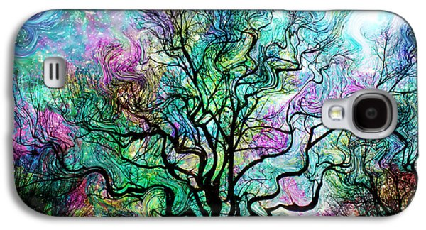 Surreal Landscape Galaxy S4 Cases - Van Goghs Aurora Borealis Galaxy S4 Case by Barbara Chichester