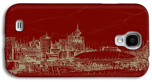 Whistler Paintings Galaxy S4 Cases - Vancouver Art 007 Galaxy S4 Case by Catf