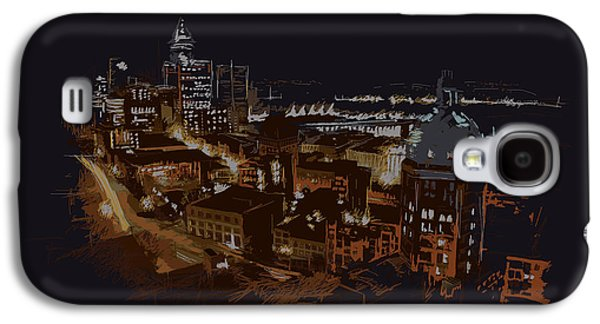 Whistler Paintings Galaxy S4 Cases - Vancouver Art 009 Galaxy S4 Case by Catf
