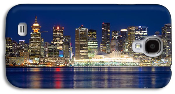Burrard Inlet Galaxy S4 Cases - Vancouver Bc Evening Skyline Galaxy S4 Case by Terry Elniski