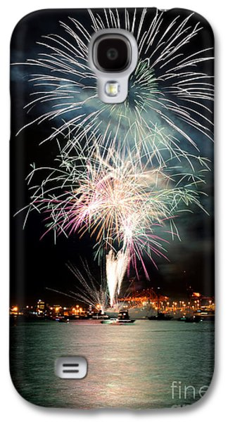 Burrard Inlet Galaxy S4 Cases - Vancouver Canada Day Fireworks 2014 - 1 Galaxy S4 Case by Terry Elniski