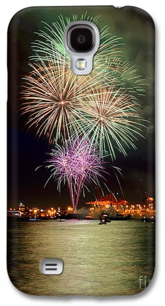 Burrard Inlet Galaxy S4 Cases - Vancouver Canada Day Fireworks 2014 - 2 Galaxy S4 Case by Terry Elniski