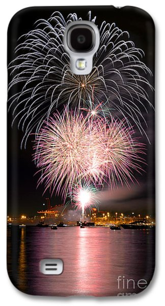 Burrard Inlet Galaxy S4 Cases - Vancouver Canada Day Fireworks 2014 - 3 Galaxy S4 Case by Terry Elniski