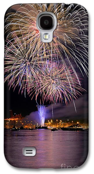 Burrard Inlet Galaxy S4 Cases - Vancouver Canada Day Fireworks 2014 - 4 Galaxy S4 Case by Terry Elniski