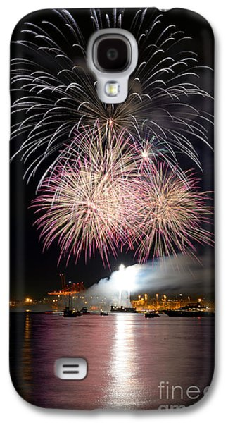 Burrard Inlet Galaxy S4 Cases - Vancouver Canada Day Fireworks 2014 - 5 Galaxy S4 Case by Terry Elniski