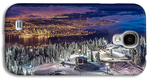 Vancouver Photographs Galaxy S4 Cases - Vancouver City panorama from Grouse Mountain  Galaxy S4 Case by Pierre Leclerc Photography