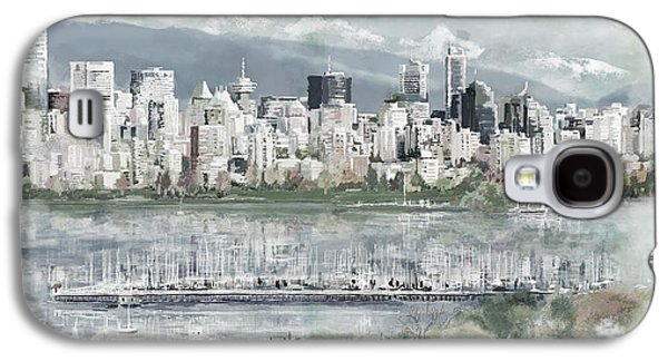 Whistler Paintings Galaxy S4 Cases - Vancouver Skyline Galaxy S4 Case by Maryam Mughal