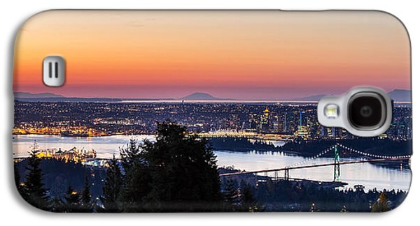 Burrard Inlet Galaxy S4 Cases - Vancouver Sunrise British Columbia Galaxy S4 Case by Pierre Leclerc Photography