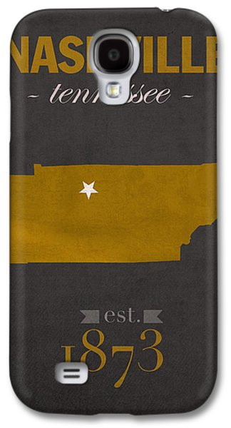 Nashville Tennessee Galaxy S4 Cases - Vanderbilt University Commodores Nashville Tennessee College Town State Map Poster Series No 118 Galaxy S4 Case by Design Turnpike