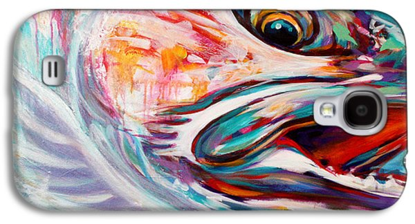 Salmon Paintings Galaxy S4 Cases - Vanishing Native - Steelhead Trout Flyfishing Art Galaxy S4 Case by Mike Savlen