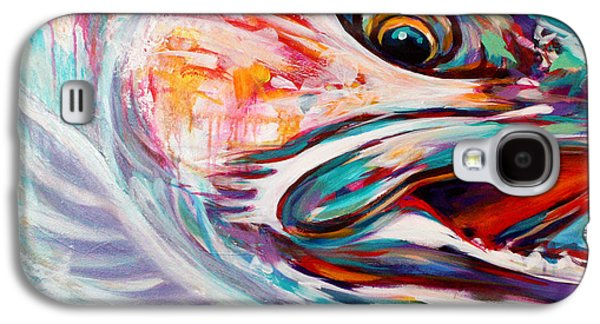 Vanishing Native - Steelhead Trout Flyfishing Art Galaxy S4 Case by Savlen Art