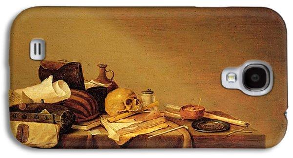 Tankard Galaxy S4 Cases - Vanitas Or, Emblem Of Death Oil On Canvas Galaxy S4 Case by Pieter van Steenwyck