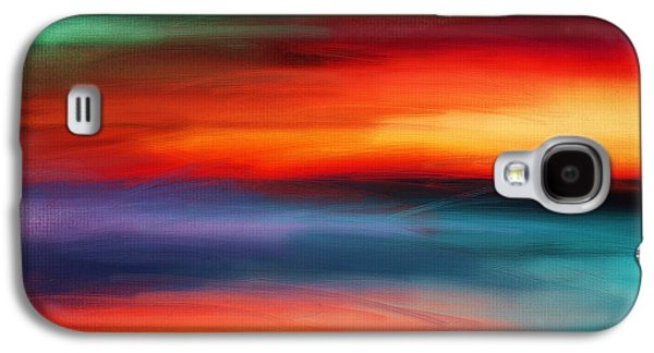 Sunset Abstract Digital Galaxy S4 Cases - Vanity Of Its Rays Galaxy S4 Case by Lourry Legarde