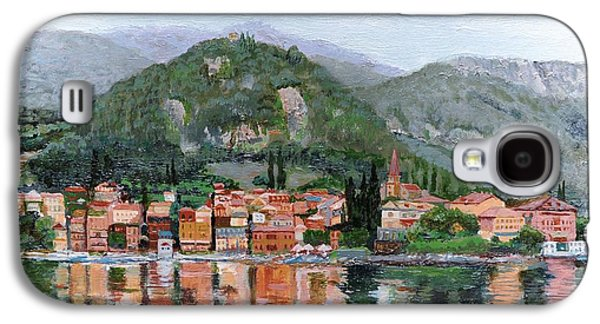 Italian Photographs Galaxy S4 Cases - Varenna, Lake Como, Italy, 2004 Oil On Canvas Galaxy S4 Case by Trevor Neal