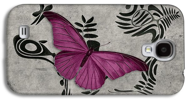 Fushia Galaxy S4 Cases - Variation sur un meme Theme - s05 Papillon Pink Galaxy S4 Case by Variance Collections