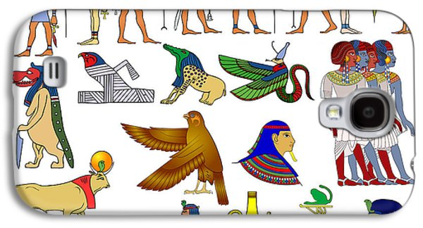 Religious Drawings Galaxy S4 Cases - Various themes of ancient Egypt Galaxy S4 Case by Michal Boubin