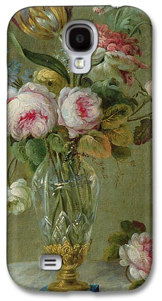 In Bloom Galaxy S4 Cases - Vase of flowers on a table Galaxy S4 Case by Michel Bellange
