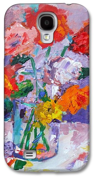 Receive Paintings Galaxy S4 Cases - When Ye Pray Believe That Ye Receive - Mark 11 24 - Impressionist Floral Painting  Galaxy S4 Case by Philip Jones