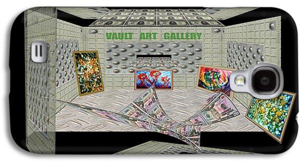 Photo Manipulation Paintings Galaxy S4 Cases - Vault Art Gallery Galaxy S4 Case by Dariush Alipanah- Jahroudi