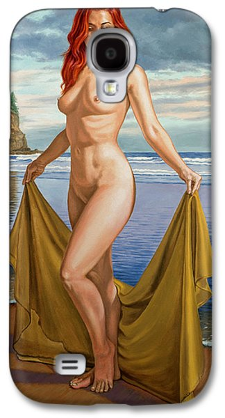 Figures Paintings Galaxy S4 Cases - Vaunt at the Beach Galaxy S4 Case by Paul Krapf