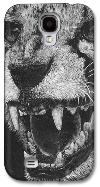 Cheetah Drawings Galaxy S4 Cases - Vehemence Galaxy S4 Case by Barbara Keith