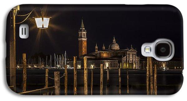 San Marco Galaxy S4 Cases - VENICE San Giorgio Maggiore at Night Galaxy S4 Case by Melanie Viola