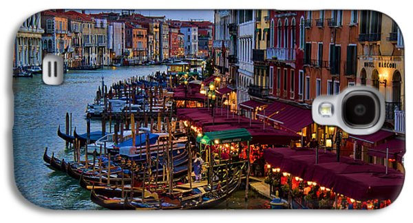 Interface Galaxy S4 Cases - Venetian Grand Canal at Dusk Galaxy S4 Case by David Smith