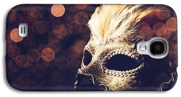 Light Pyrography Galaxy S4 Cases - Venetian Mask Galaxy S4 Case by Jelena Jovanovic