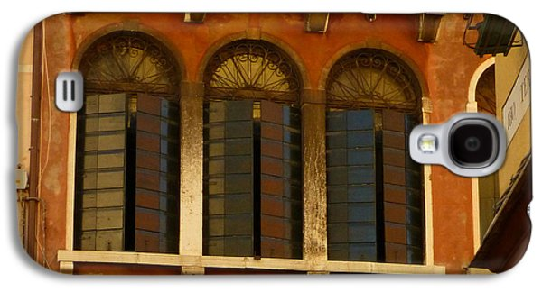 Sienna Italy Galaxy S4 Cases - Venetian Shutters Galaxy S4 Case by Connie Handscomb