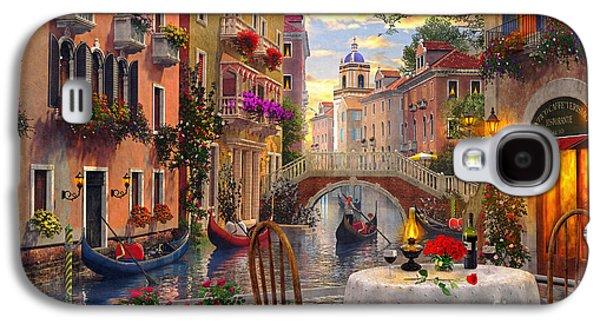Morning Galaxy S4 Cases - Venice Al fresco Galaxy S4 Case by Dominic Davison